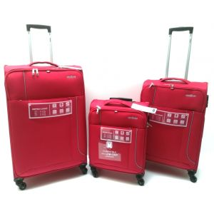 Set Trolley Tessuto 12312 rosso