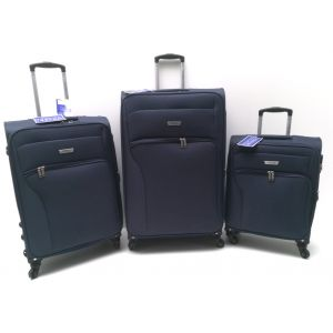 Set Trolley Tessuto 2204/3 Blu COVERI COLLECTION