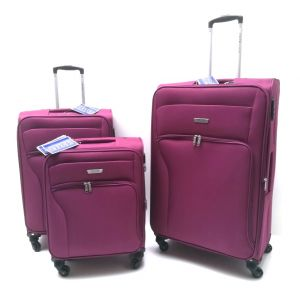SET TROLLEY TESSUTO 2204/3 prugna Coveri Collection