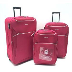 Set Trolley Tessuto 2949 Rosso
