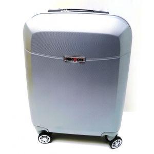 Trolley abs bagaglio cabina 8046/1-Argento