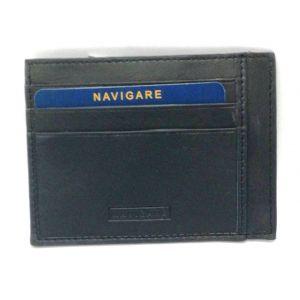 Porta card in pelle P014001 Nero